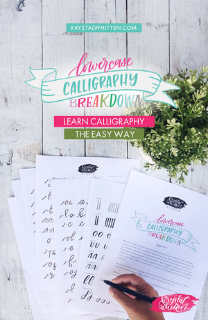 Lowercase Calligraphy Breakdown