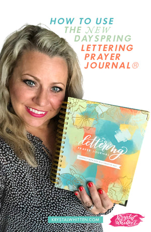 Dayspring Lettering Prayer Journal Release