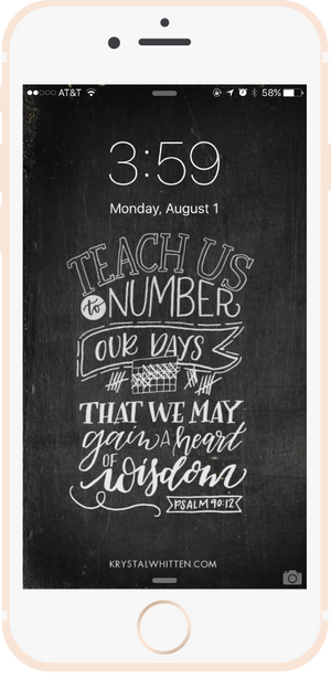 Teach Us to Number Our Days • 8/16