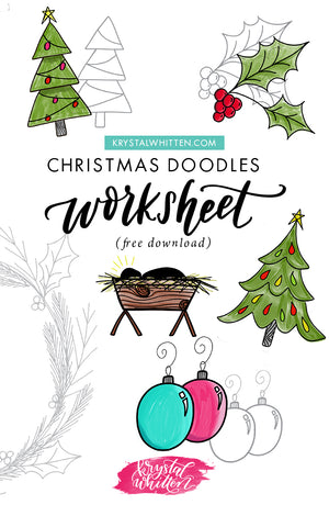 Christmas Doodles Worksheet