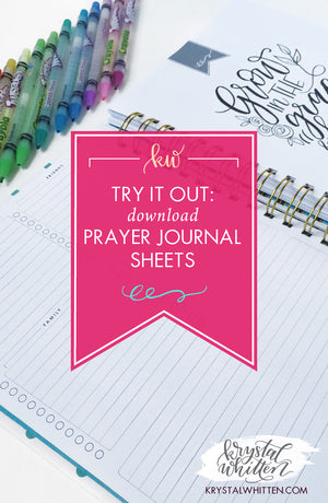 Try it Out: Download The Lettering Prayer Journal Prayer Sheets