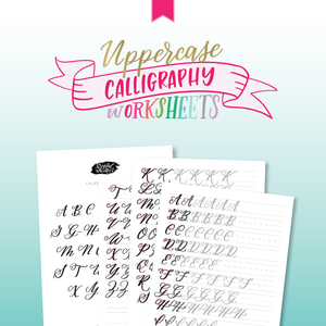 Uppercase Calligraphy Worksheets