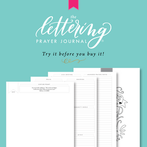 Lettering Prayer Journal Try It Out