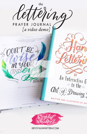 A Lettering Prayer Journal & Hand Lettering Video Demo