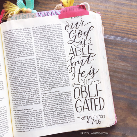 Bible Journaling with the Tombow Fude