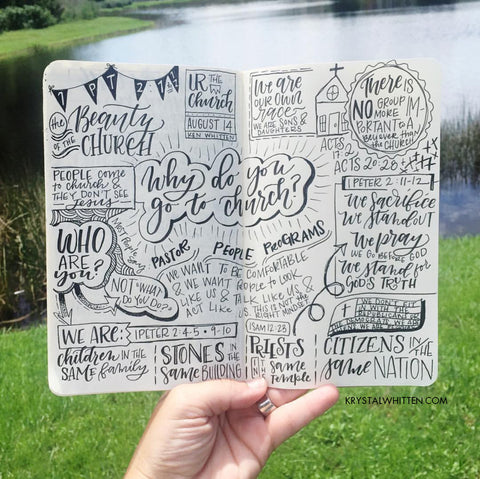 Sketch notes creative lettering