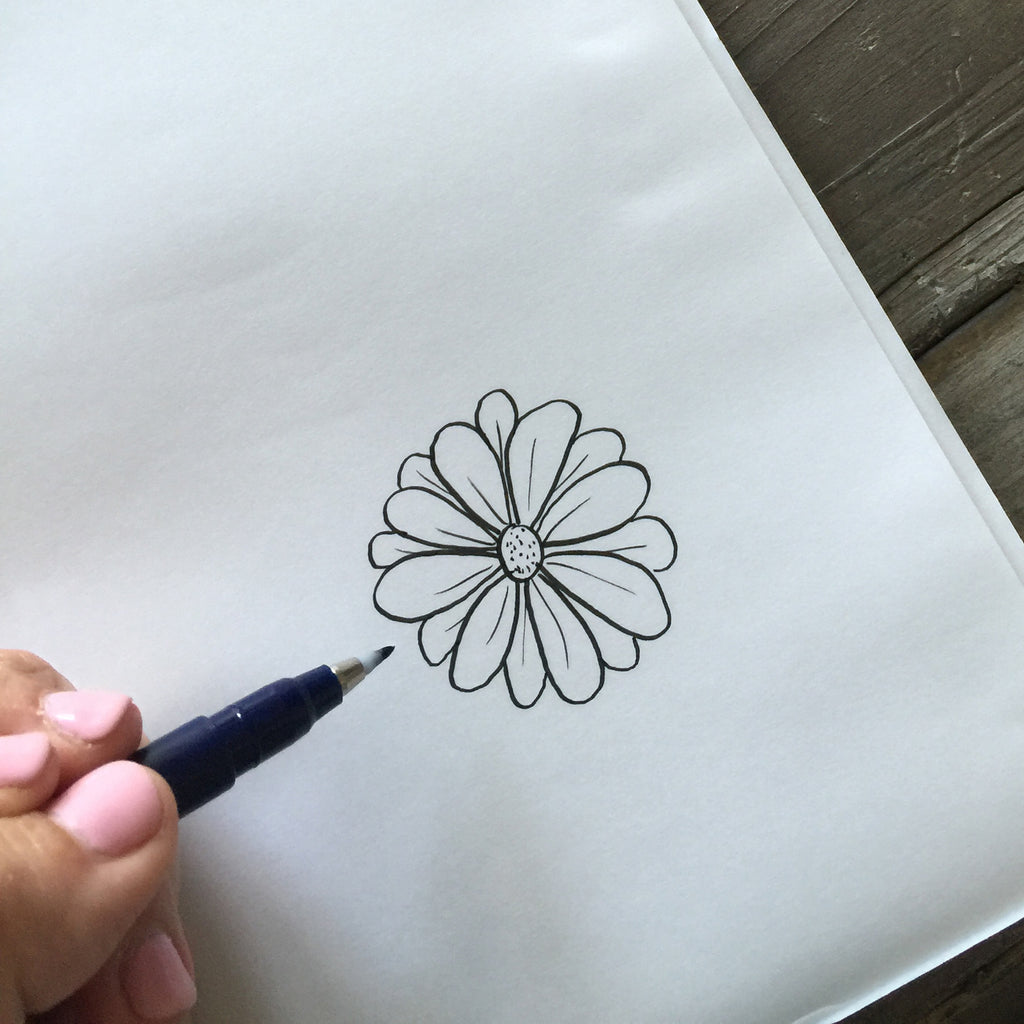 Simple Steps For Drawing Flowers Krystal Whitten