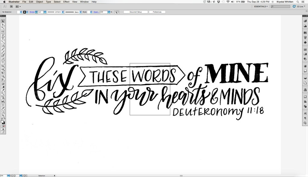 How To Digitize Your Lettering - Krystal Whitten