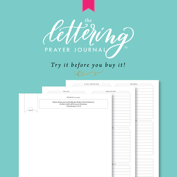 Lettering Prayer Journal try it out download