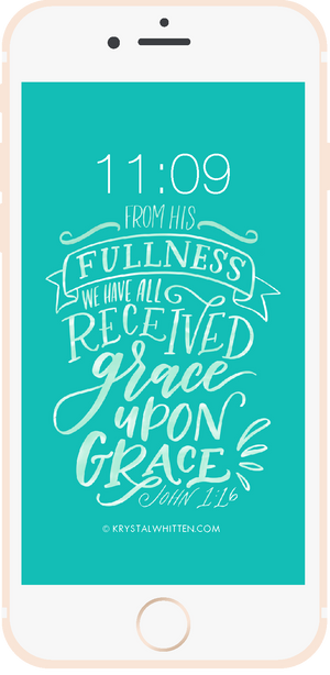 Grace Upon Grace Lord Lock Screen (3/18)