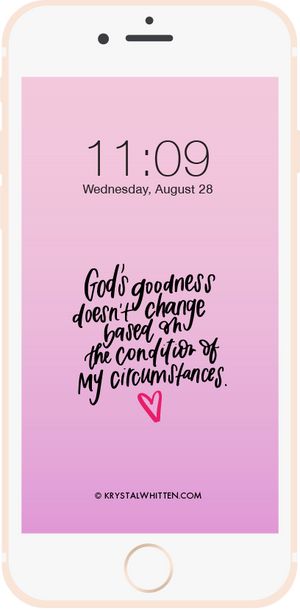 God's Goodness Lock Screen (8/19)