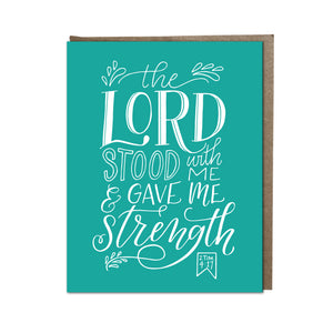 """Gave Me Strength"" card"