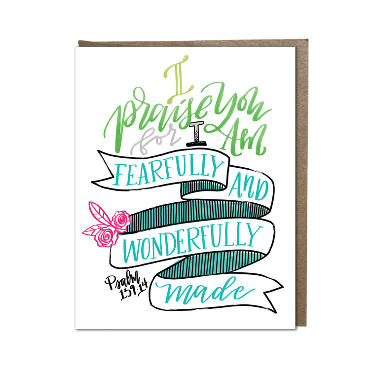 """Fearfully and Wonderfully Made"" card"