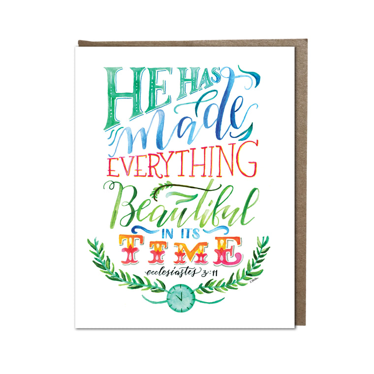"""Beautiful in Time"" card"