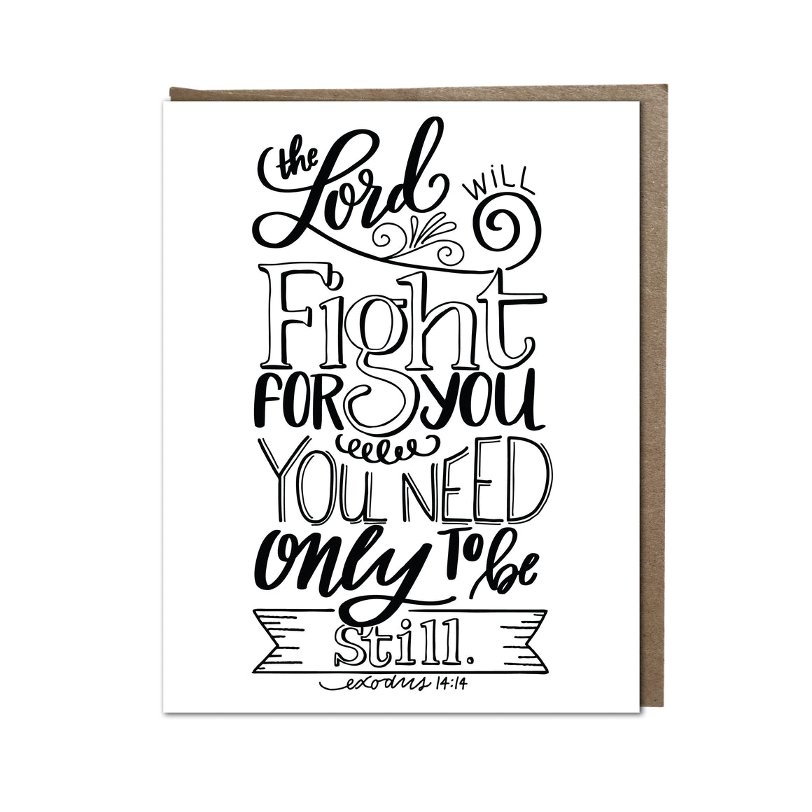 """The Lord Will Fight For You"" card"