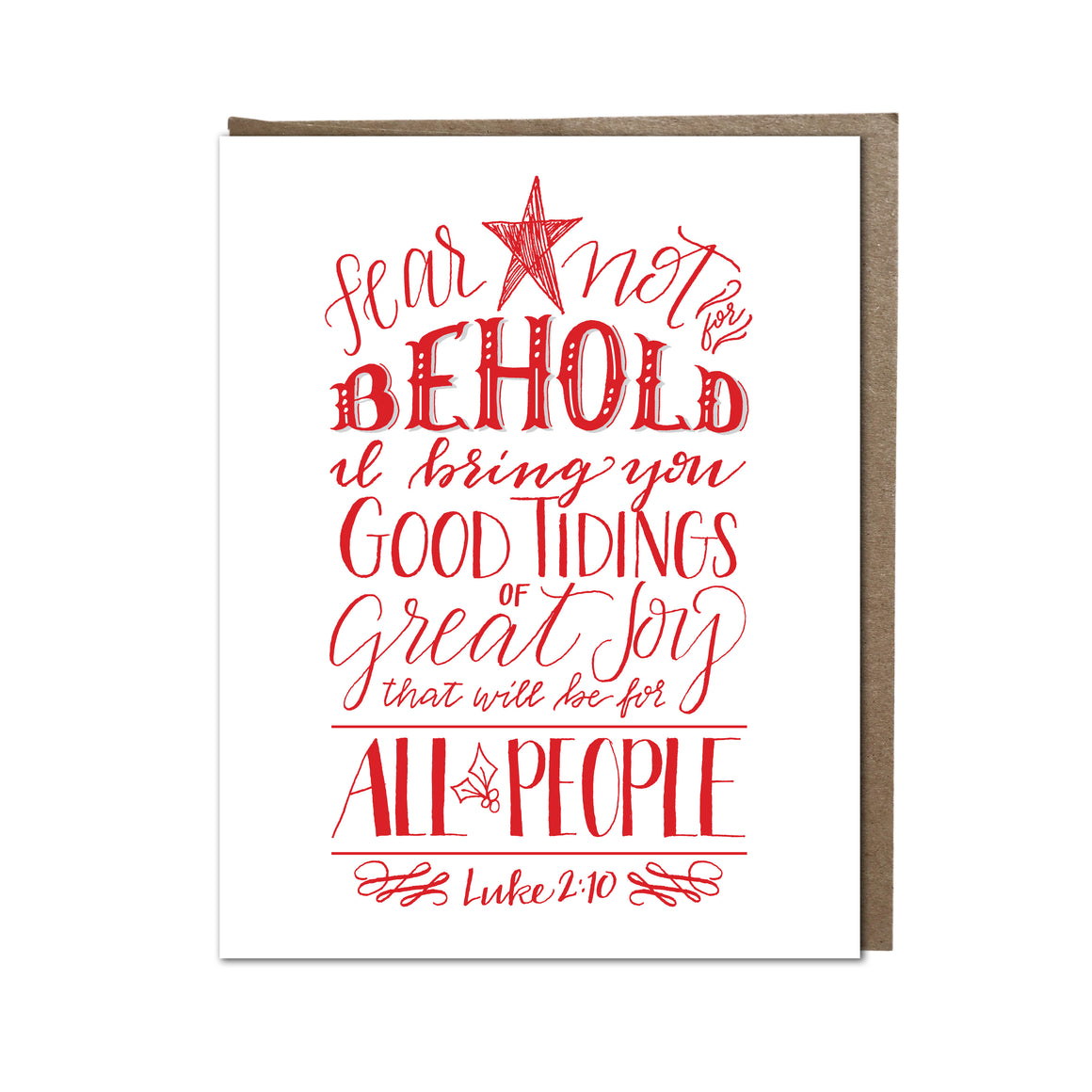 """Good Tidings of Great Joy"" card"