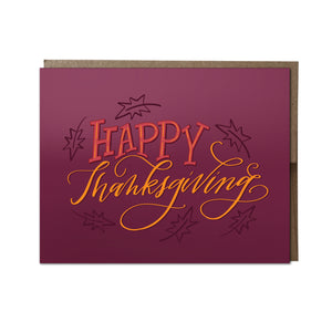 """Happy Thanksgiving"" card"