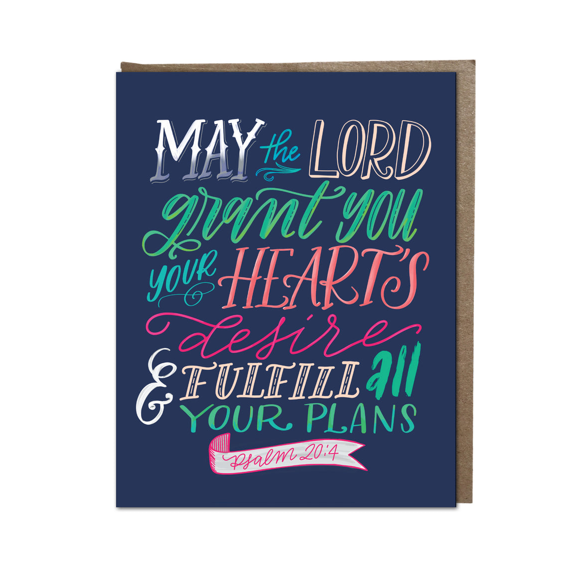 """May God Grant You Your Heart's Desire"" card"