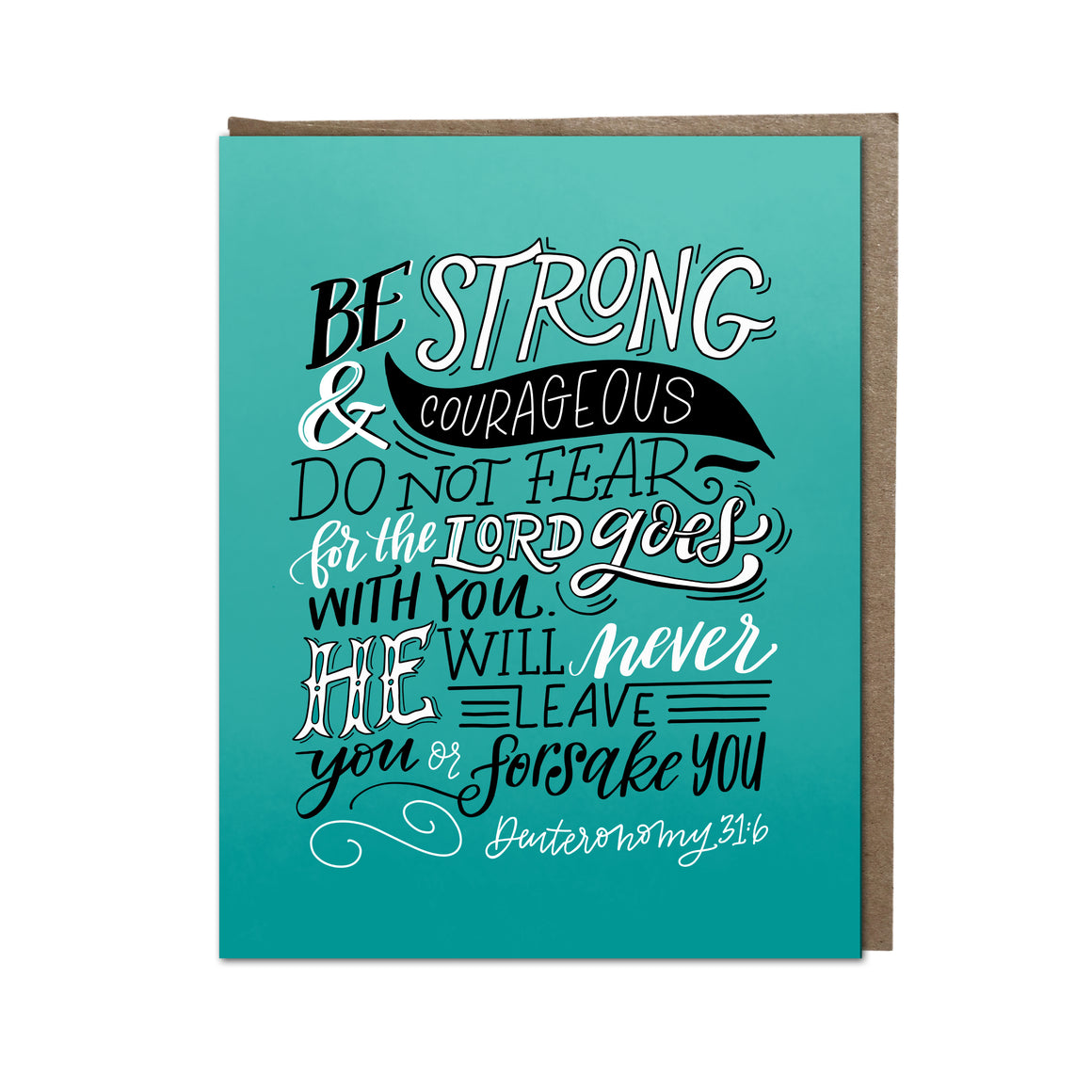 """Be Strong And Courageous"" card"