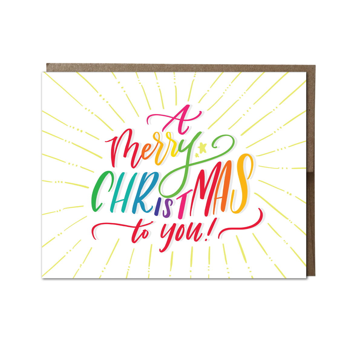 """ A Merry Christmas To You"" card"