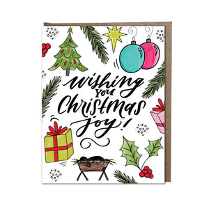 """ Wishing You Christmas Joy"" card"