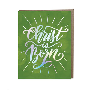 """Christ Is Born"" card"