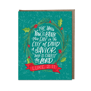 """Unto You Is Born This Day"" card"