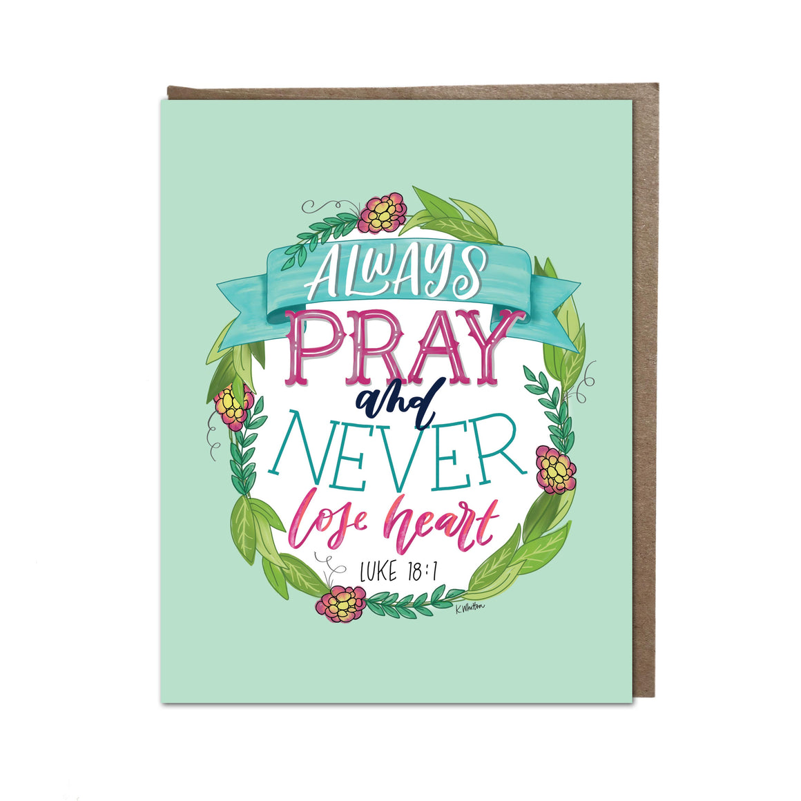 """Always Pray"" card"