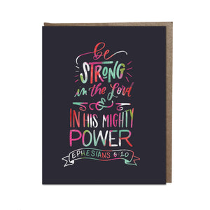 """Be Strong"" card"