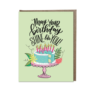 """Birthday Shine"" card"