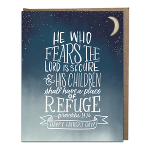 """A Place of Refuge"" card"