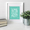 """Love the Lord"" scripture art print"