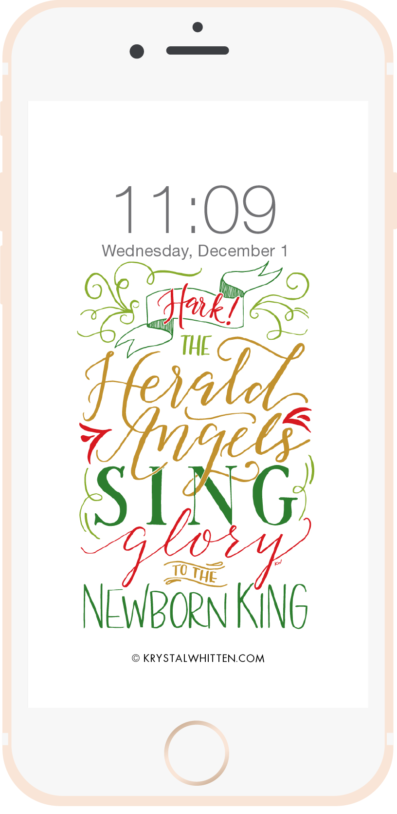 Hark the Herald Angels Sing Lock Screen (12/15)