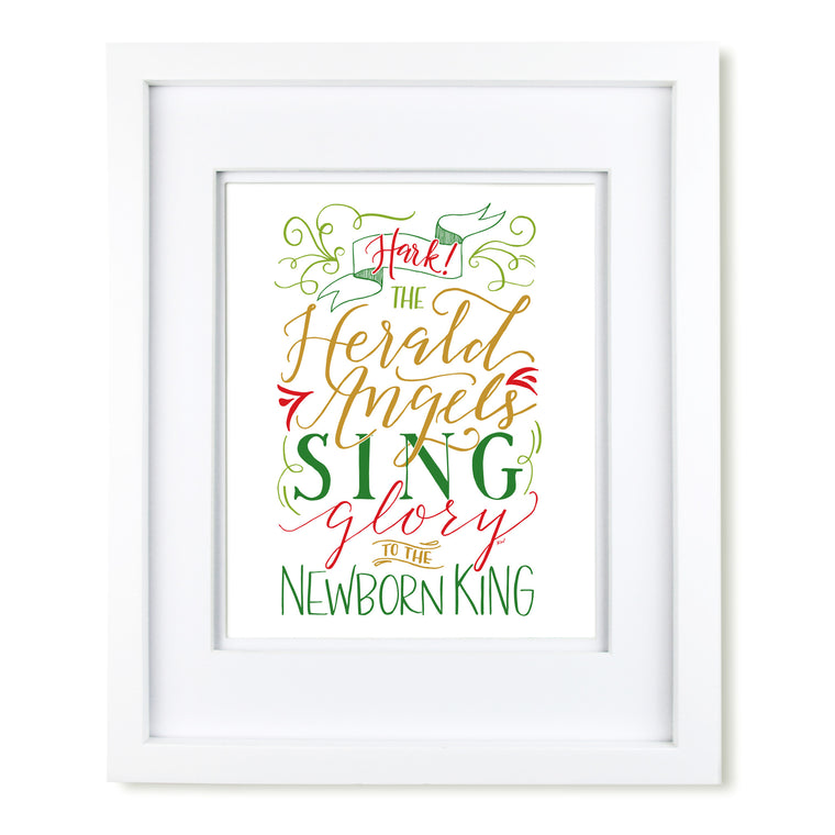 """Hark the Herald Angels Sing"" art print"