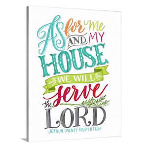 """As for Me and My House"" [art print or canvas]"
