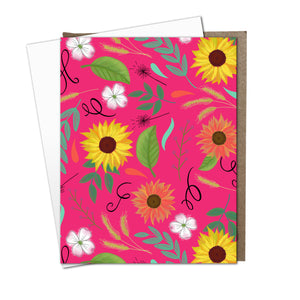 Cultivate Floral Flat Notes