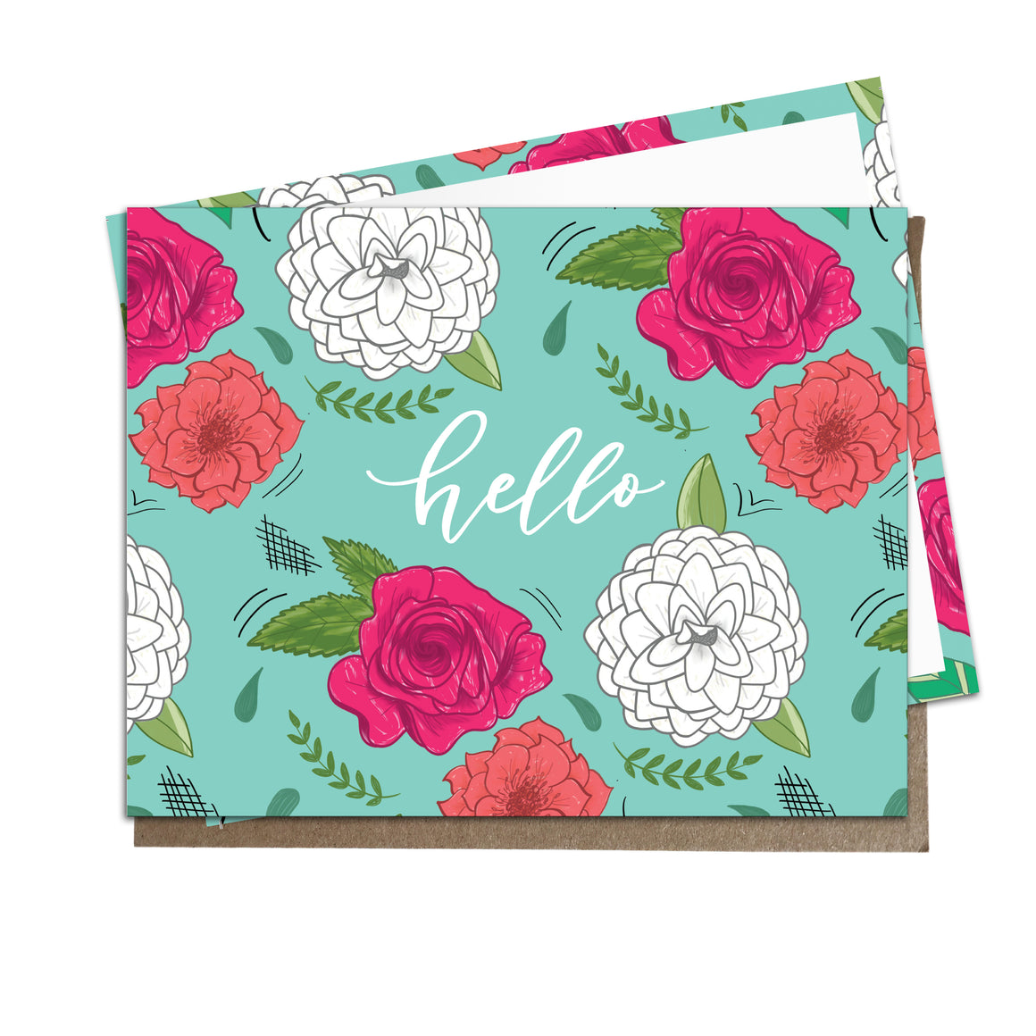 "Eden Floral ""Hello"" Flat Notes"
