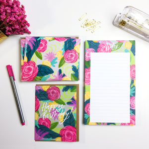 "Genesis Floral ""Notes"" Notepad"
