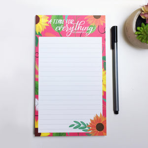 A Time for Everything Notepad
