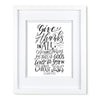 """In All Circumstances"" scripture art print"