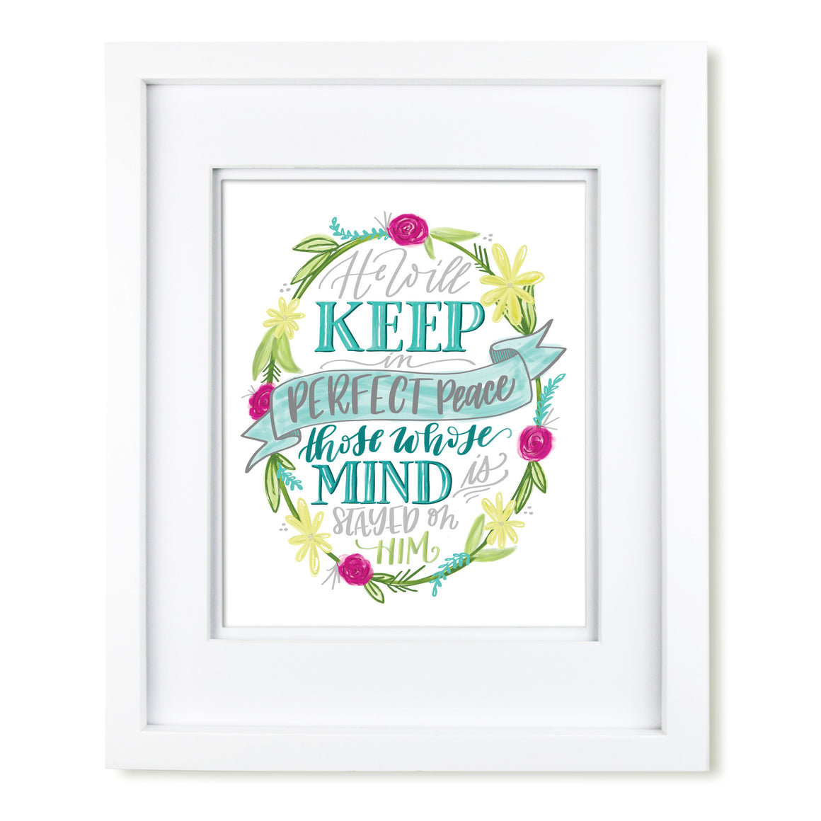"""Perfect Peace"" scripture art print"