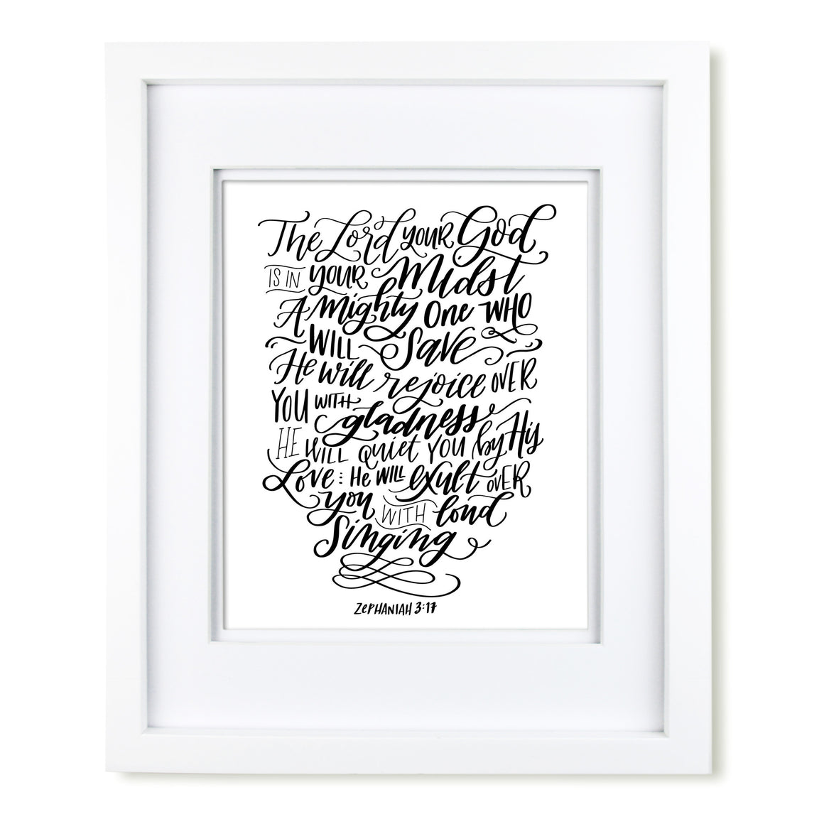 """In Your Midst"" scripture art print"