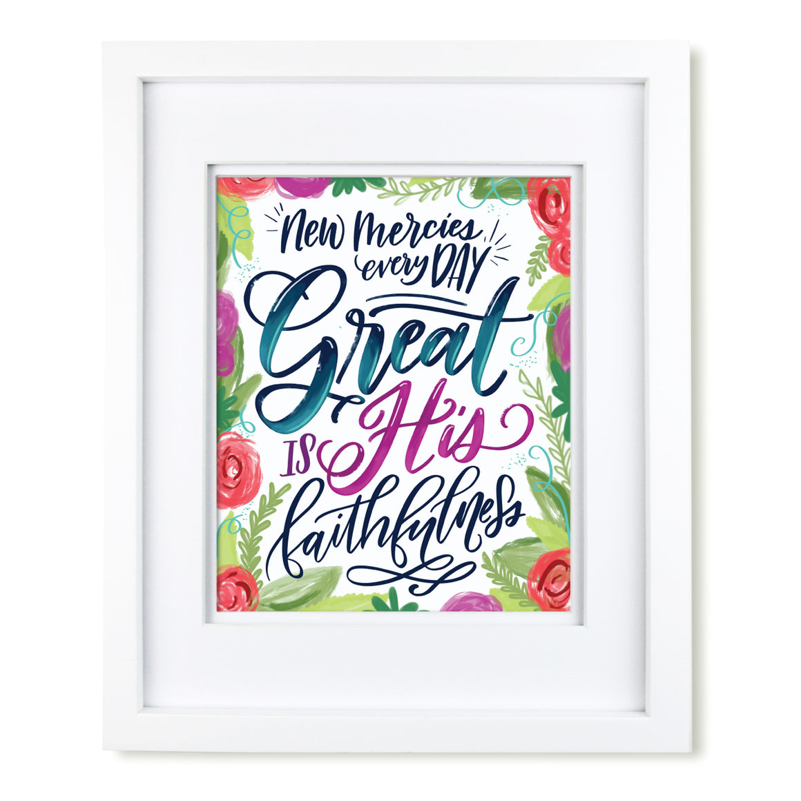 """Great is His Faithfulness"" [art print or canvas]"