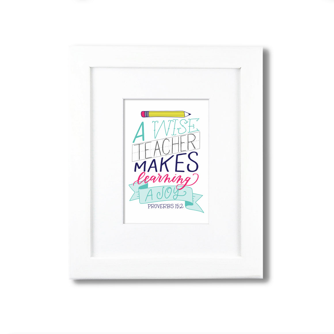 """A Wise Teacher"" scripture art print"