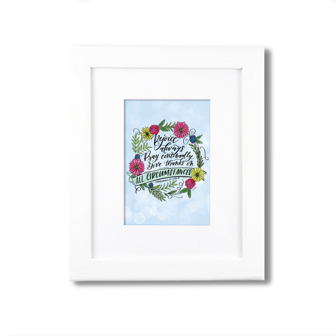 """Rejoice Always"" scripture art print"