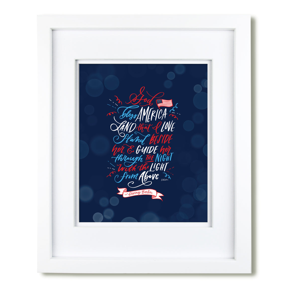 """God Bless America"" art print"