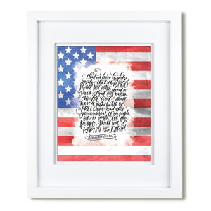 Abraham Lincoln quote art Print
