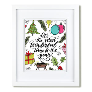 """Most Wonderful Time Of The Year"" art print"