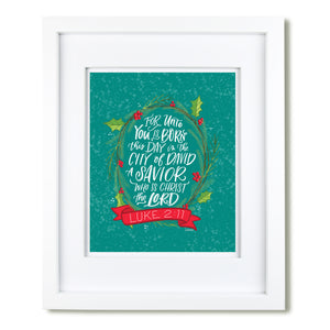 """Unto You is Born"" [art print or canvas]"