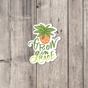 """Grow in Grace"" sticker"